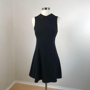 Lulus • Mod Goals Collared Black Dress Small